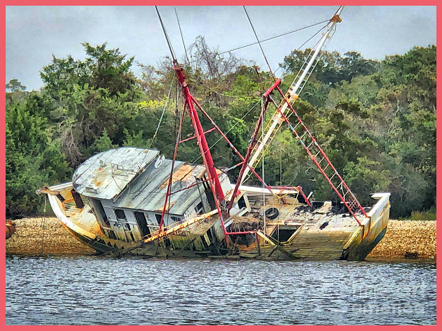 Wreck Photograph - Matthews Remains by Steven Norris