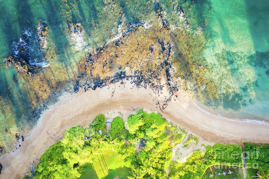Maui Hawaii Aerial Photo of Wailea-Makena Beach Shoreline by Paul Velgos