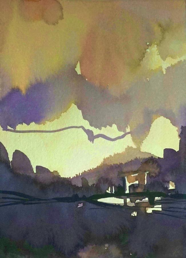 Mauve In The Mountains Painting