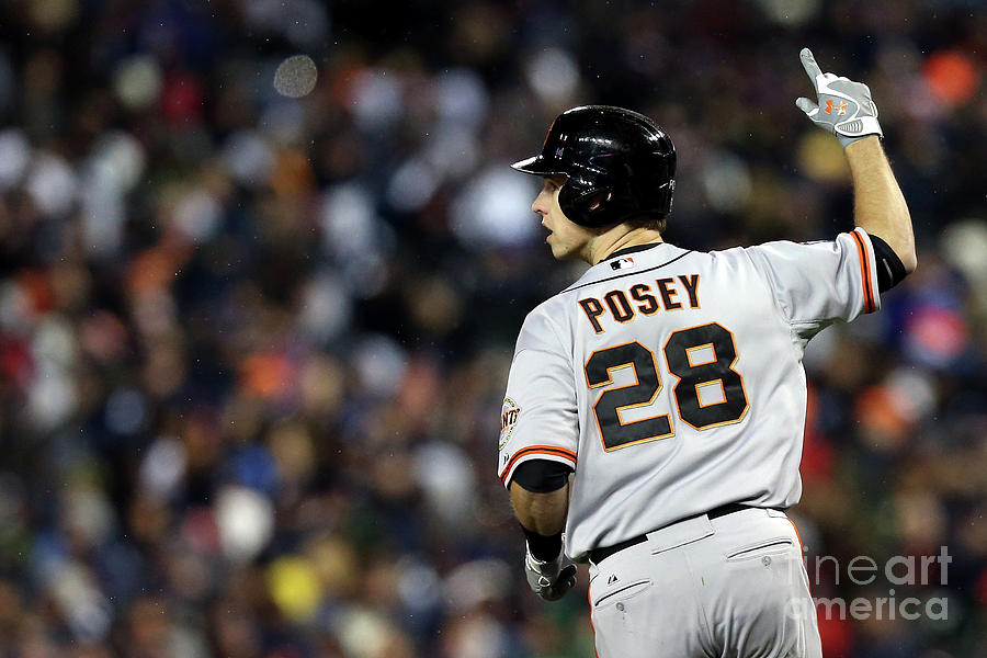 Max Scherzer and Buster Posey Photograph by Ezra Shaw