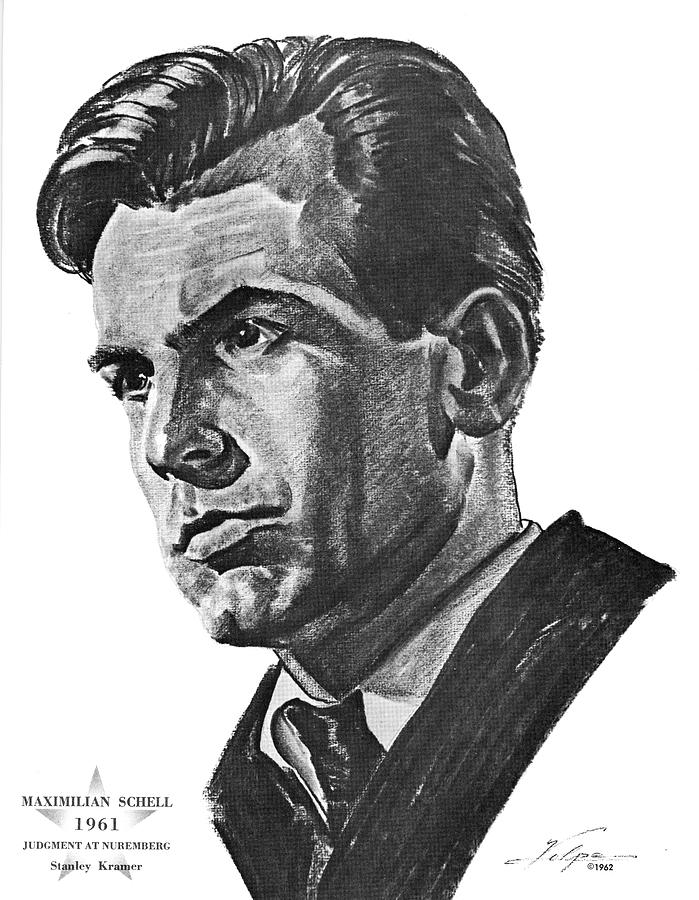 Maximilian Schell By Volpe Drawing