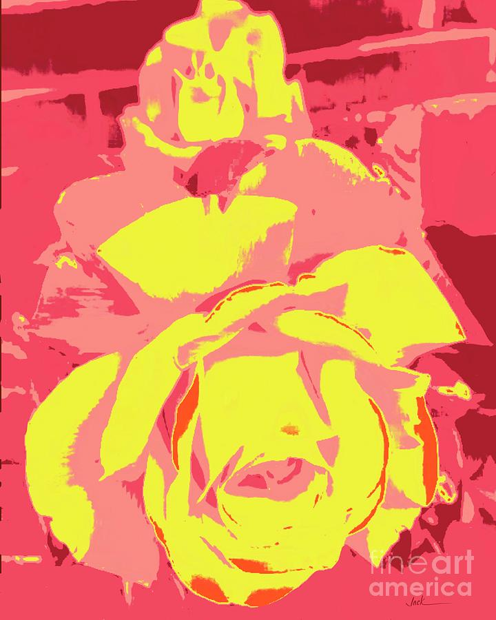 Rose Painting - May Rose by Jack Bunds