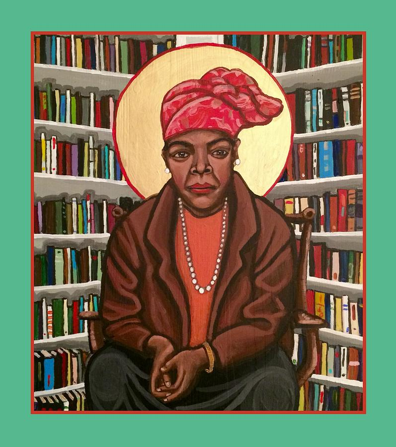 Maya Angelou Painting by Kelly Latimore