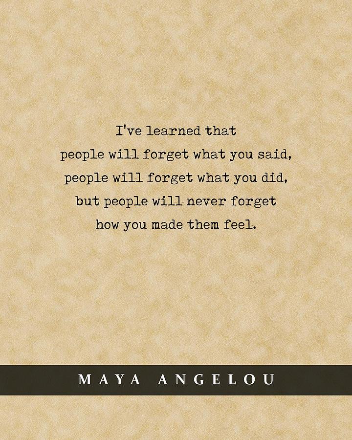 Maya Angelou - Quote Print - Literary Poster 02 Mixed Media