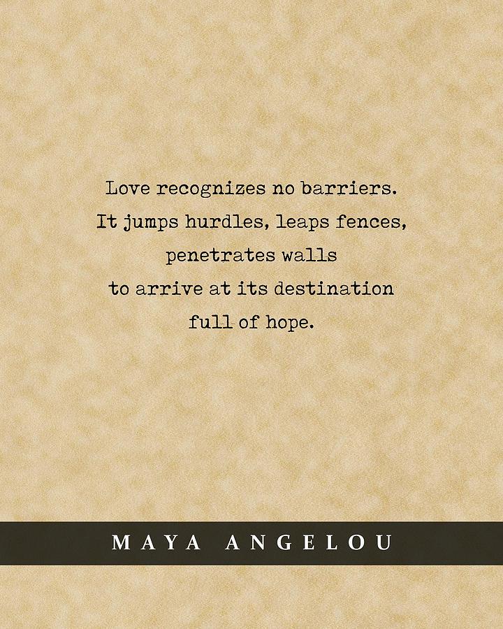 Maya Angelou - Quote Print - Literary Poster 04 Mixed Media