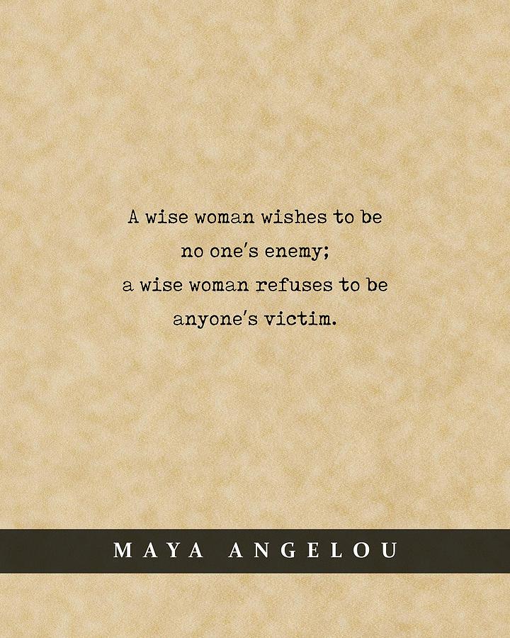 Maya Angelou - Quote Print - Literary Poster 07 Mixed Media
