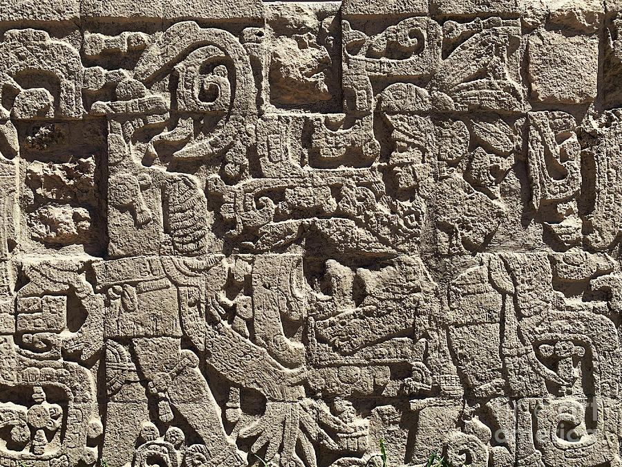 Mayan Wall Carving Photograph By Delphimages Photo Creations