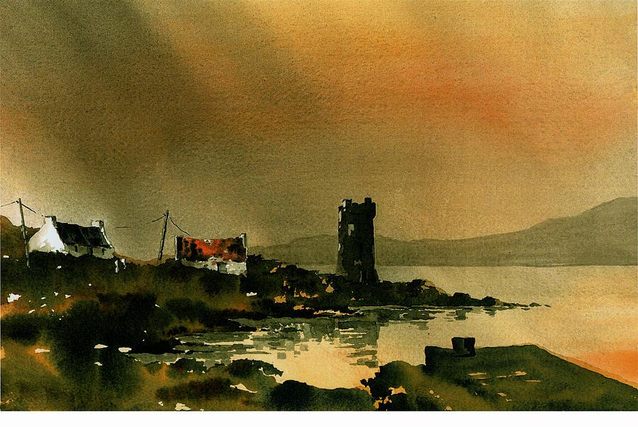 MAYO, Kildavnet,  Grace O' Malley's Castle, Rockfleet. by Val Byrne