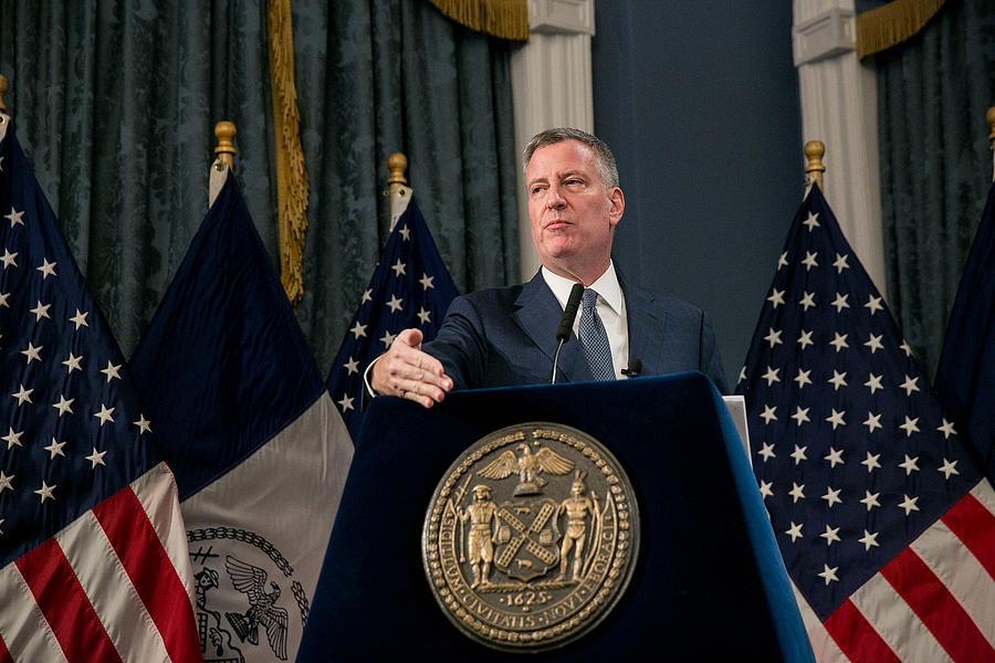 Mayor De Blasio Presents 2018 Preliminary Budget At City Hall Photograph by Pool