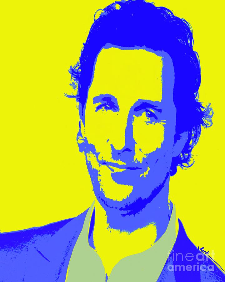 Matthew Mcconaughey Painting - McConaughey 51 by Jack Bunds