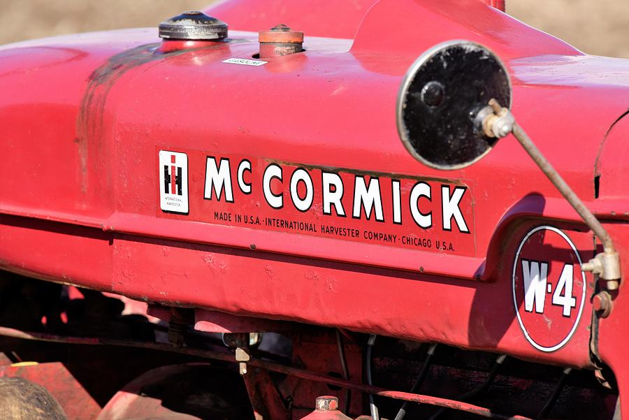 Mccormick Vintage Tractor Photograph