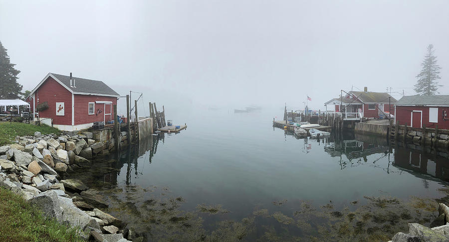 Mcloons Lobster Shack Foggy Morning Photograph