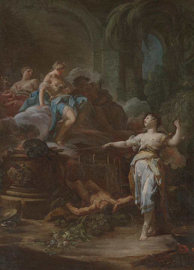 Italian Painters Painting - Medea Rejuvenating Aeson, Circa 1760 by Corrado Giaquinto