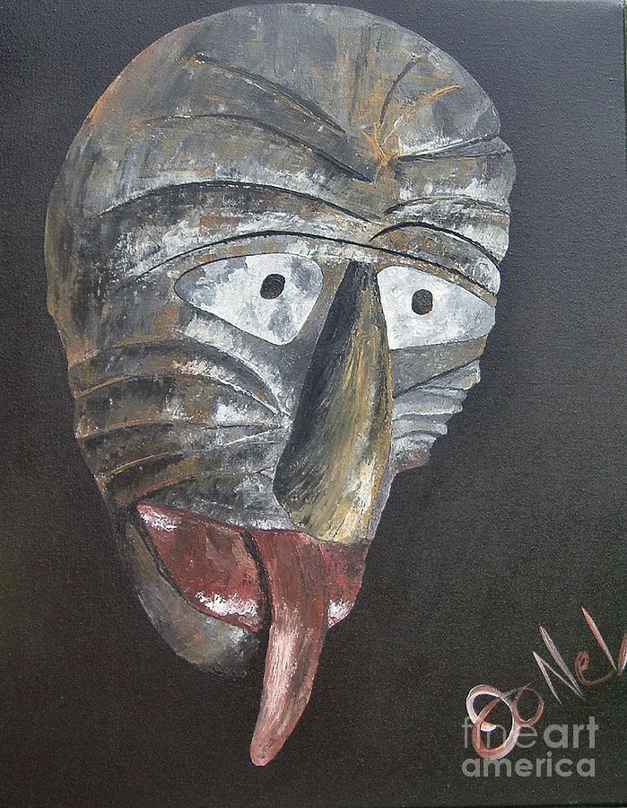 Tribal Painting - Medicine Man by JoNeL Art