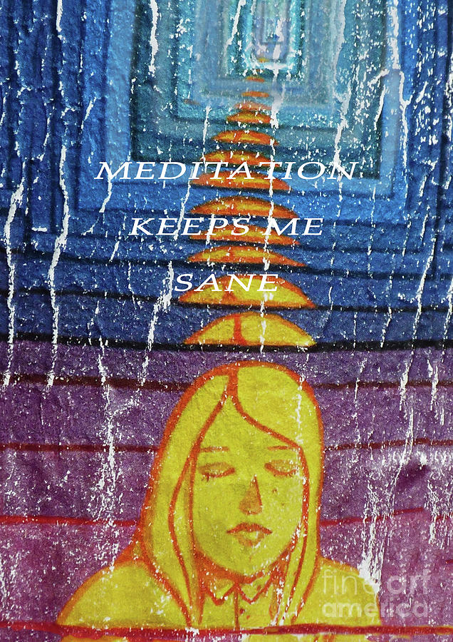 Meditation Keeps Me Sane 300 by Sharon Williams Eng