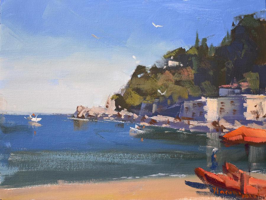 Mediterranean Sea Painting - Mediterranean Sea by Ylli Haruni