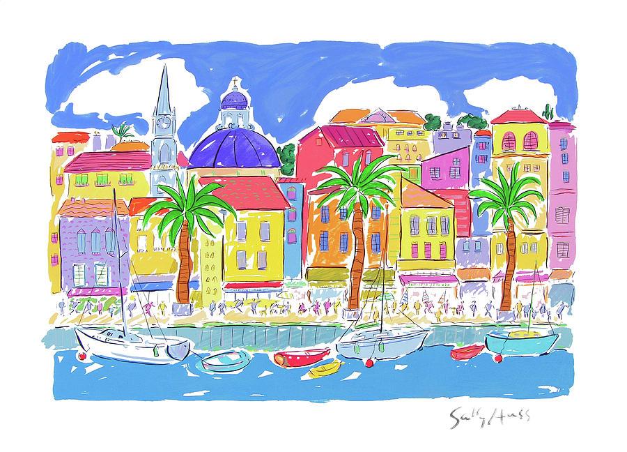 Malta Painting - Mediterranean Village by Sally Huss