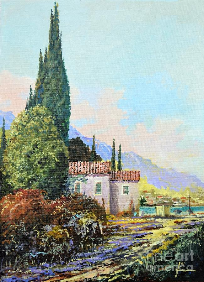 Beach Painting - Mediterraneo 2 by Sinisa Saratlic