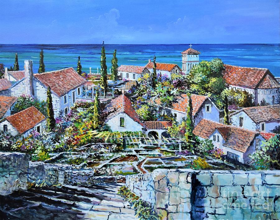 Landscape Painting - Mediterraneo by Sinisa Saratlic