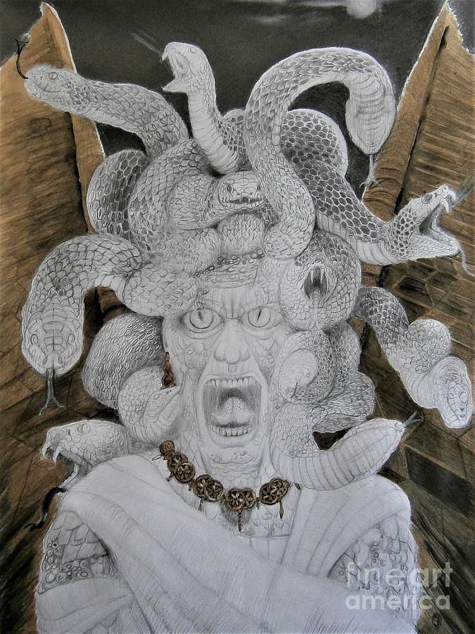 Medusa In Rage by Balkishan Jhumat