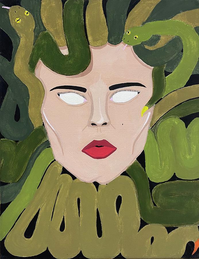 Medusa Painting - Medusa by Mike Boodram