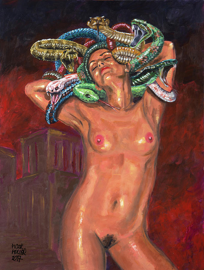 Snakes Painting - Medusa by Pictor Mulier