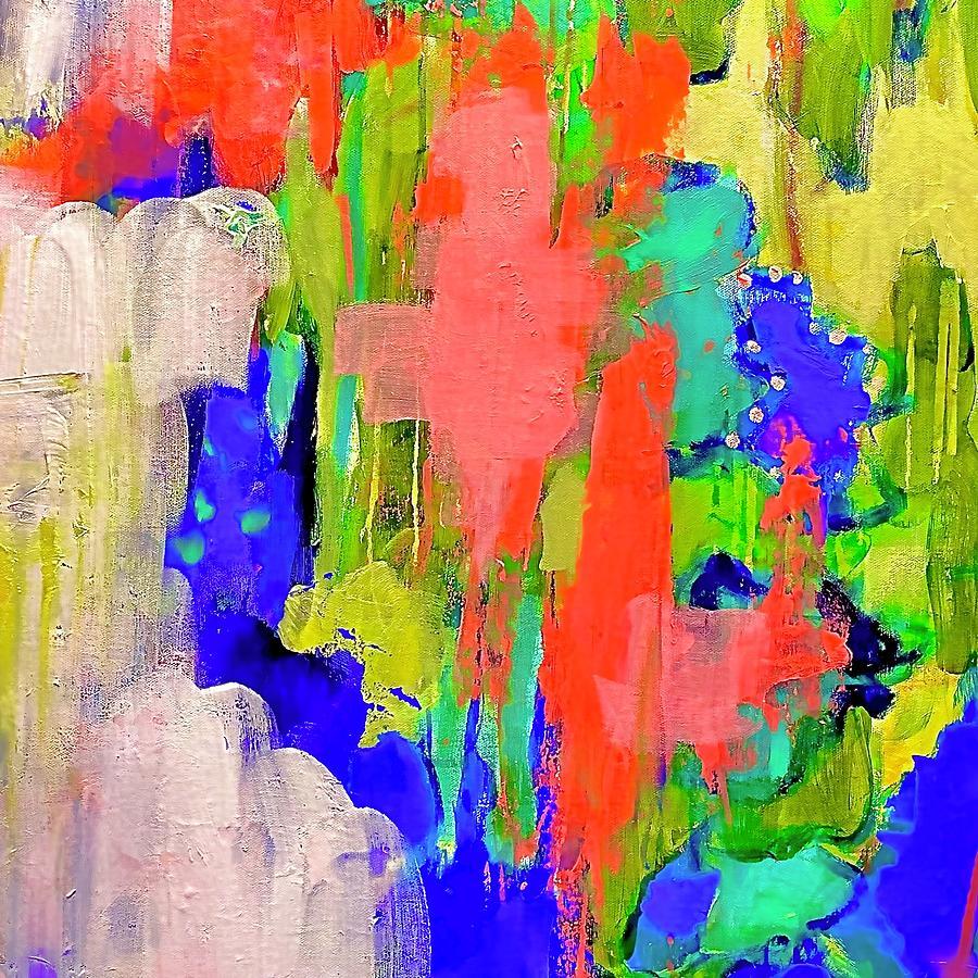 Colorful Painting - Meet Me In Monaco by Margot Sappern