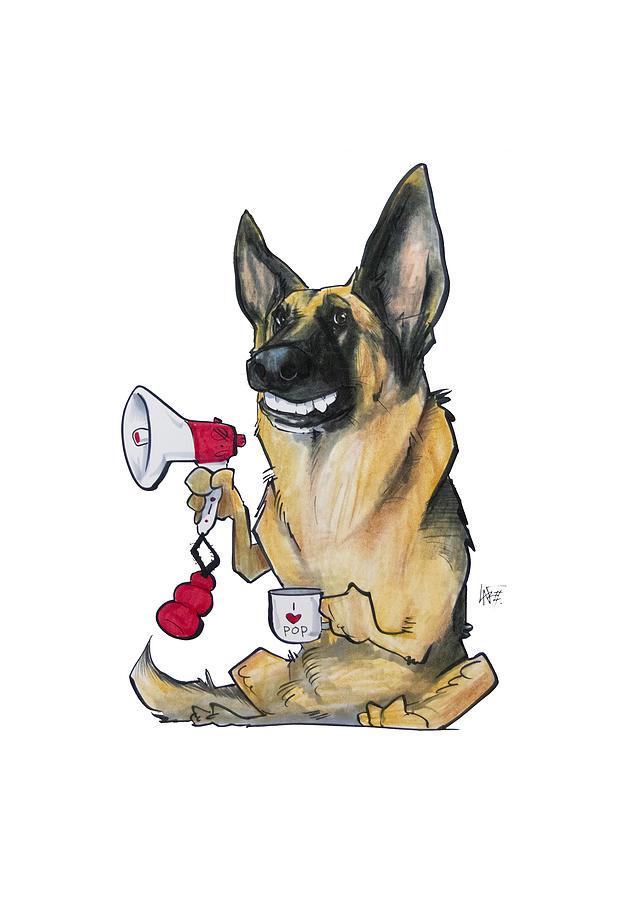 Megaphone German Shepherd Drawing