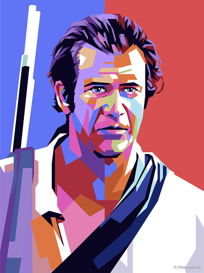 Mel Gibson Painting