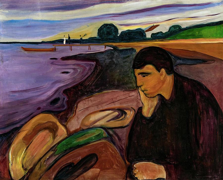 Edvard Munch Painting - Melancholy, 1894 by Edvard Munch