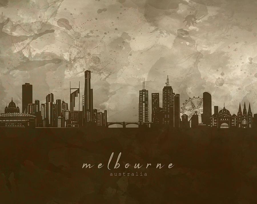 Melbourne Skyline Panorama 4 Digital Art