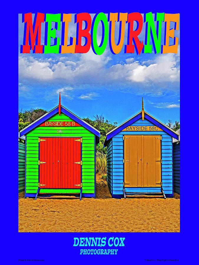 Melbourne Travel Poster Photograph
