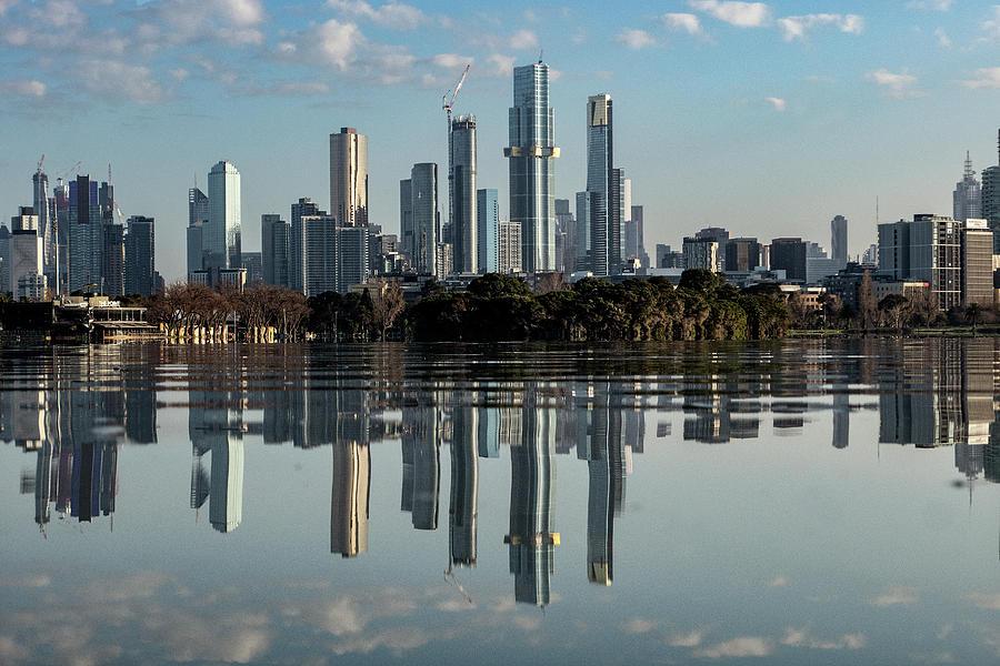 Melbourne Photograph - Melbournes Mirror  by Leigh Henningham
