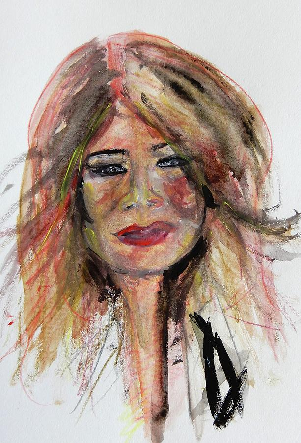 Pop Painting - Melenia Trump Pop Watercolor Portrait by Debora Lewis