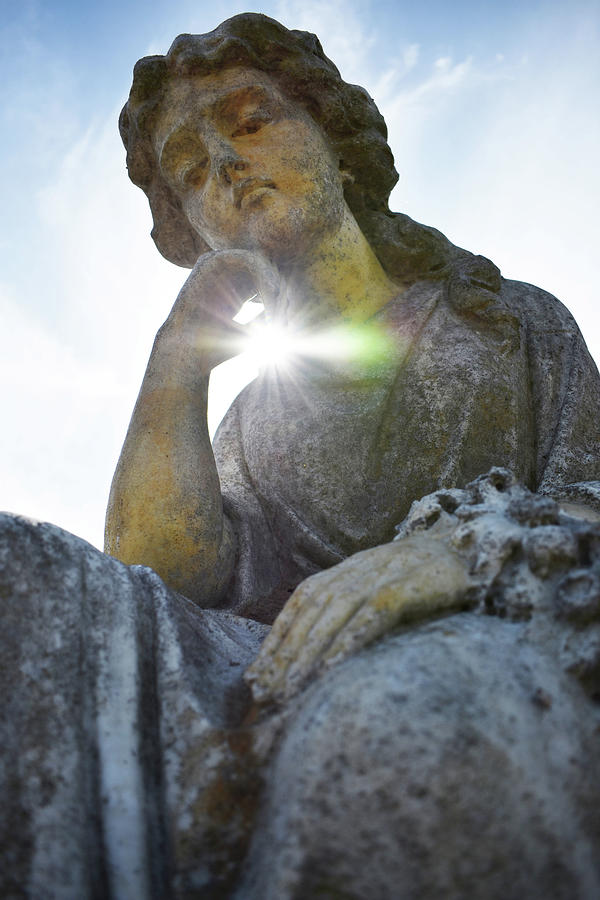 Cemetery Photograph - Memorial Glow by D Patrick Miller