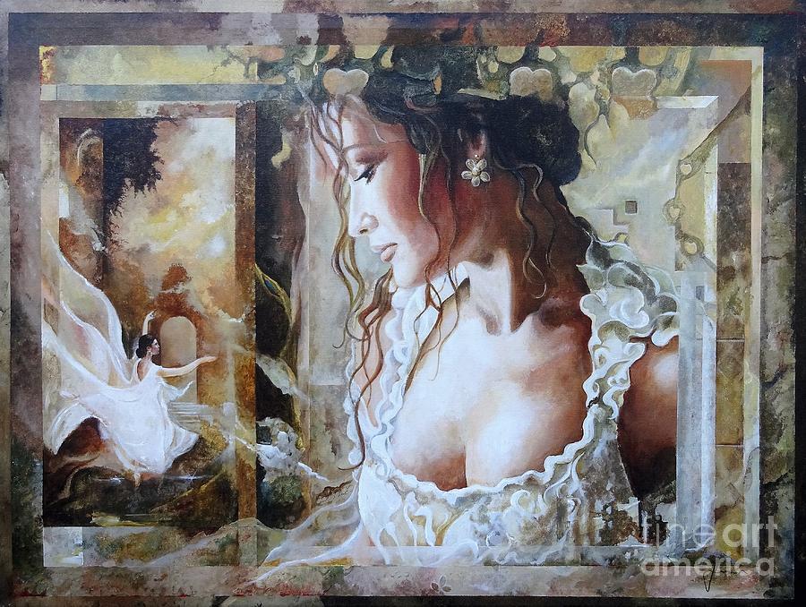 Portrait Painting - Memories by Sinisa Saratlic