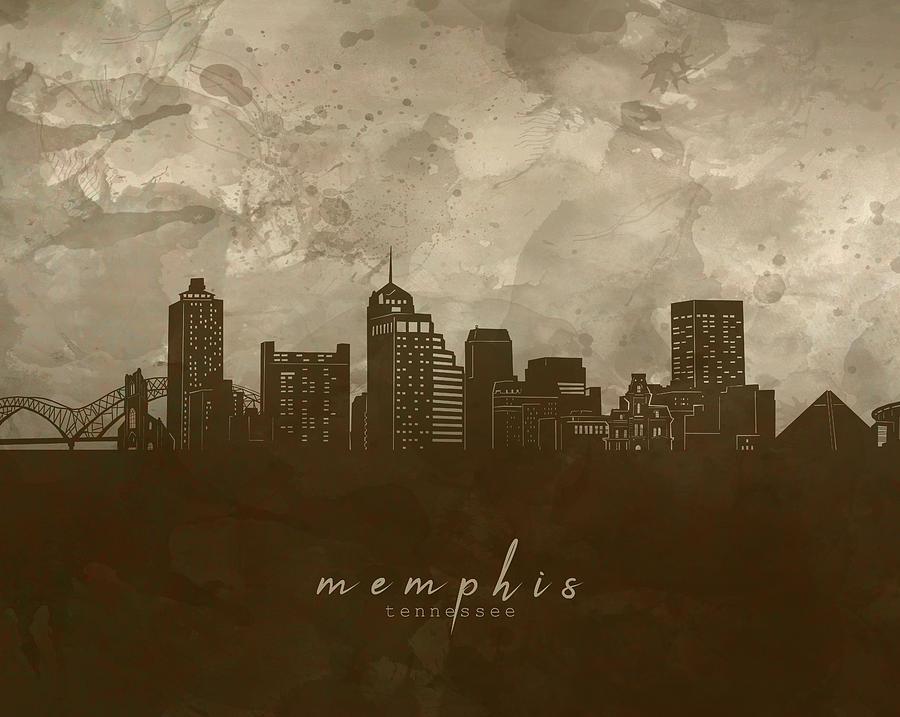 Memphis Skyline Panorama 4 Digital Art