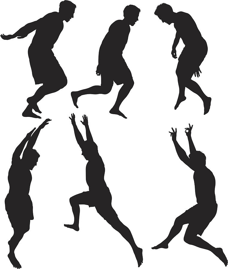 Men jumping in excitement Drawing by 4x6
