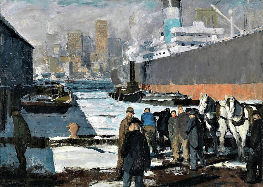 George Wesley Bellows Painting - Men Of The Docks - Digital Remastered Edition by George Wesley Bellows