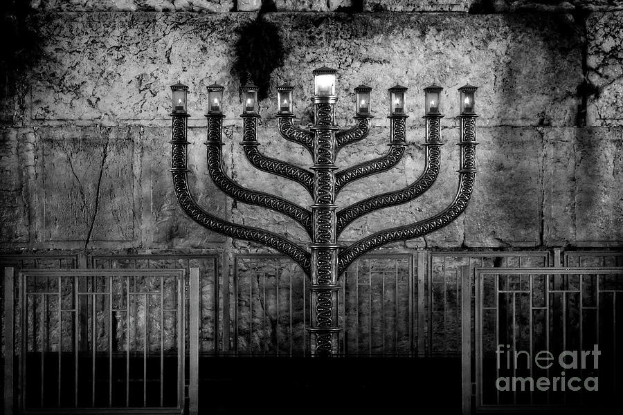 Menorah at the Western Wall - Study II by Doc Braham