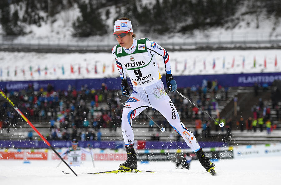 Mens Nordic Combined HS130/10k - FIS Nordic World Ski Championships Photograph by Matthias Hangst