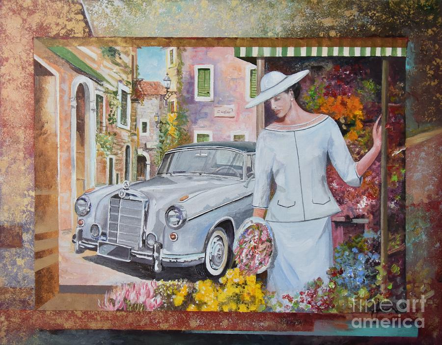 European Painting - Mercedes-Benz 220 s cabriolet by Sinisa Saratlic