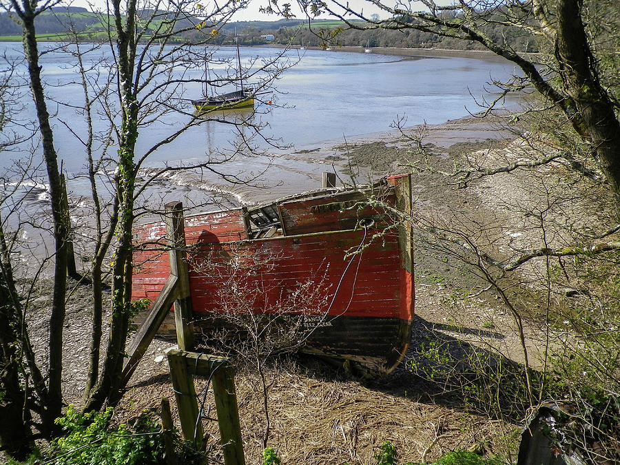Hulk Photograph - Merganser Hulk Wreck River Tamar Devon by Richard Brookes