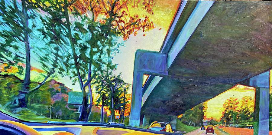 Park Painting - Merging by Bonnie Lambert