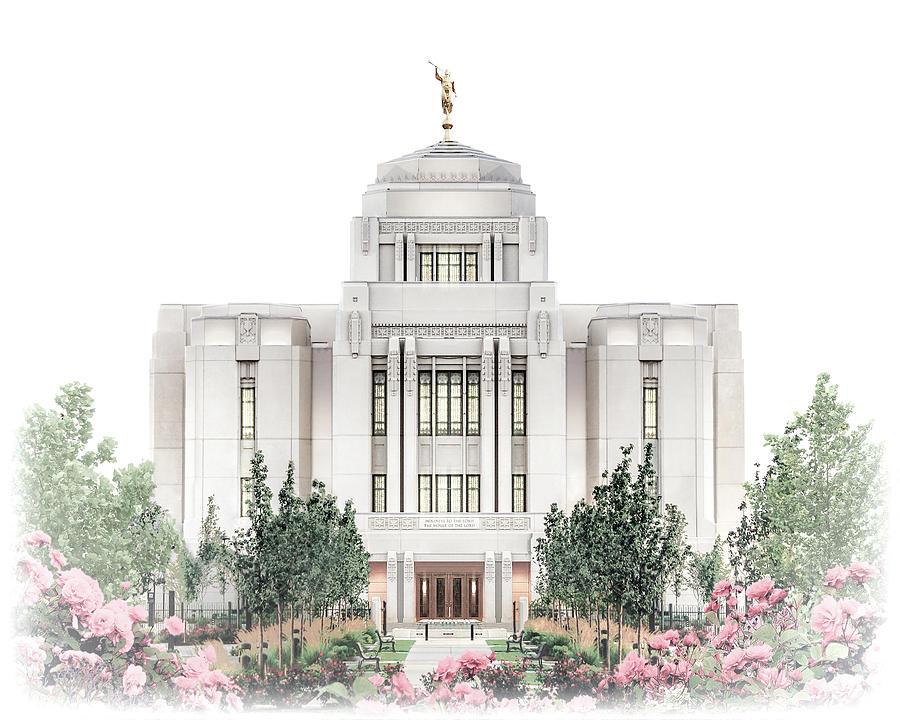 Meridian Digital Art - Meridian Temple - Celestial Series by Brent Borup