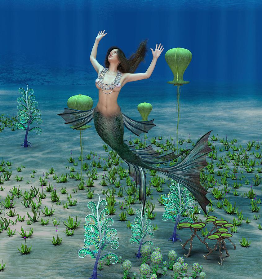 Mermaid 3 Digital Art