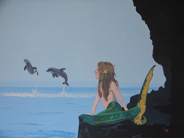 Mermaid Painting - Mermaid Mallessa by David Ellis