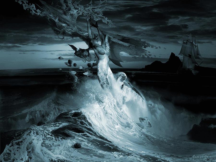 Mermaid Syndrom Digital Art by George Grie