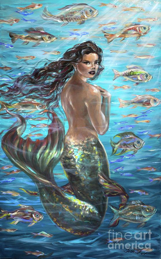 Mermaid Turning Away by Linda Olsen
