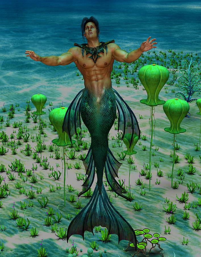 Merman 1 Digital Art